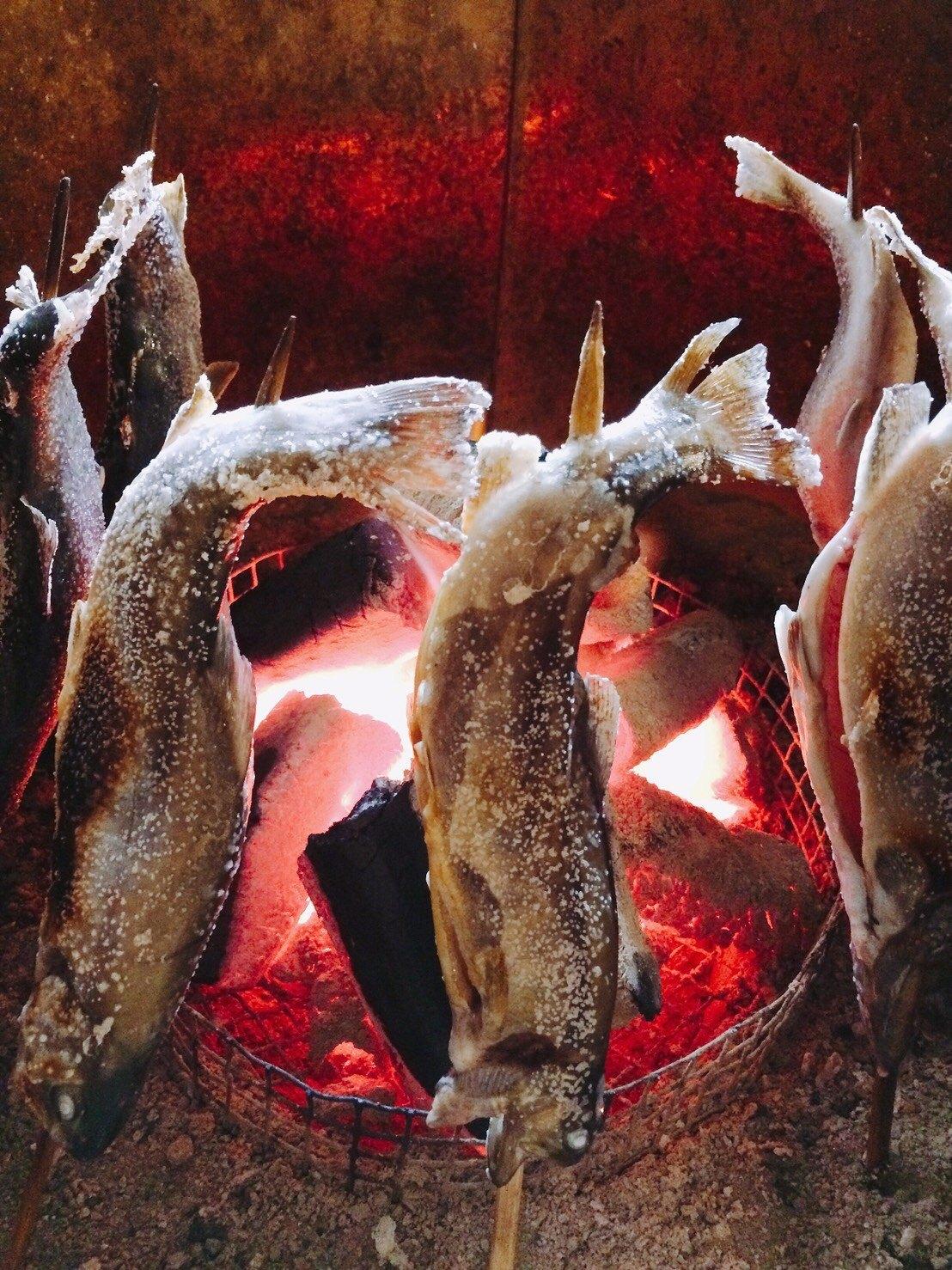 鈴森の湯岩魚の塩焼き